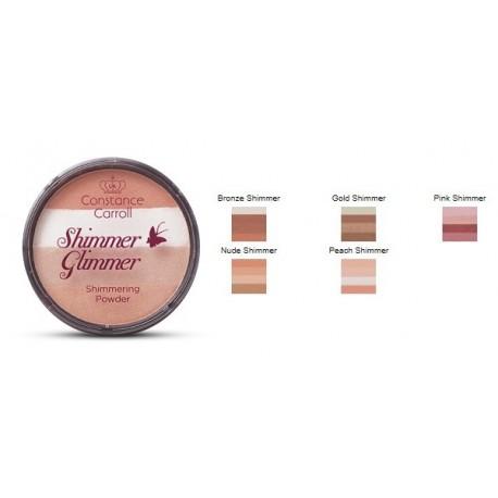 CONSTANCE CARROLL Shimmer Glimmer Púder č.03 Pink Shimmer