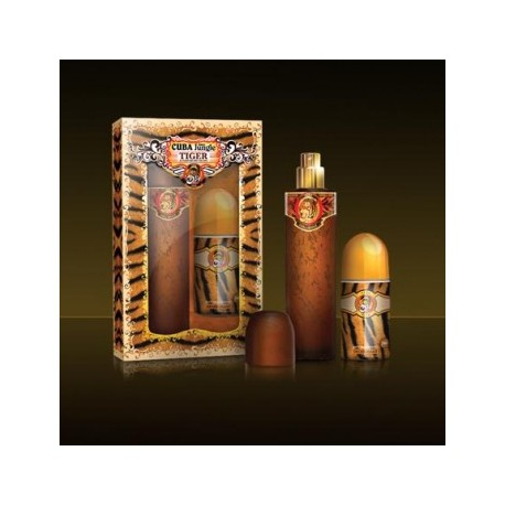 SET Dámsky CUBA JUNGLE TIGER 100 ml EdT Parfüm + Roll on 50 ml