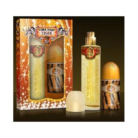 SET Dámsky CUBA STRASS TIGER 100 ml EdT Parfüm + Roll on 50 ml