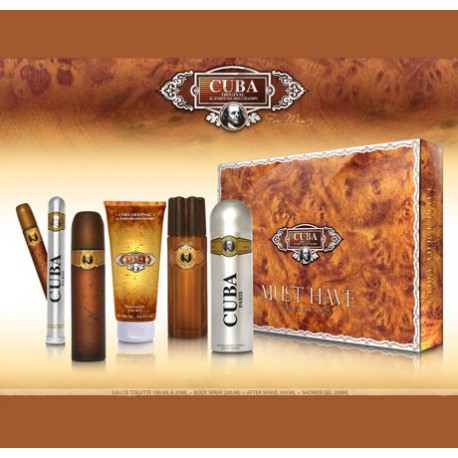 SET CUBA MUST HAVE GOLD Pánsky 100ml +35ml +Deo +Aftershave +Showergel