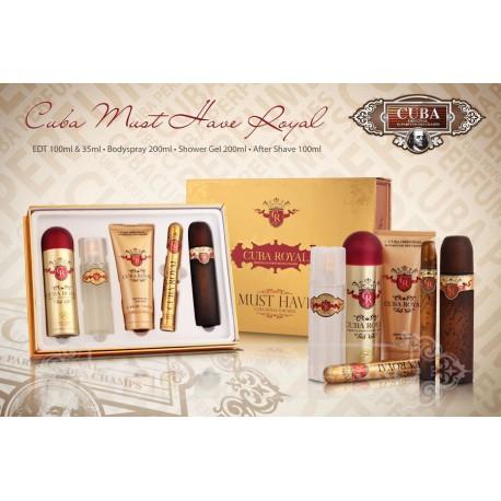SET CUBA MUST HAVE ROYAL Pánsky 100ml +35ml +Deo +Aftershave +Showergel